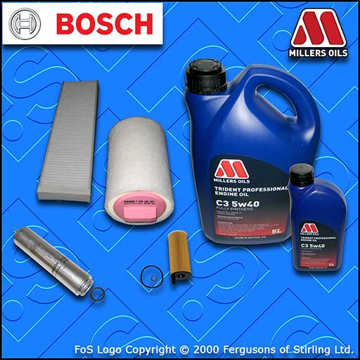 SERVICE KIT MINI COUNTRYMAN PACEMAN 1.6 D R60 R61 OIL AIR FUEL CABIN FILTER +OIL
