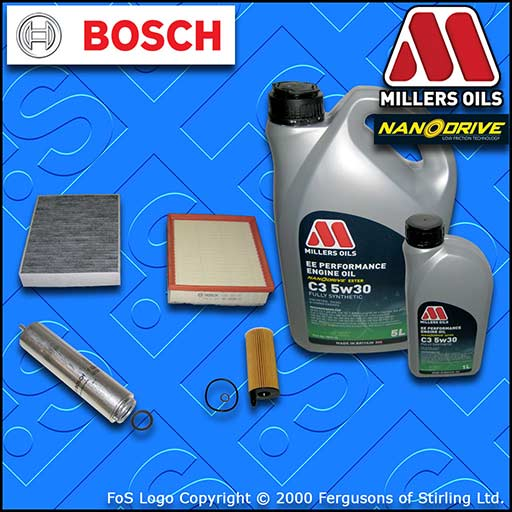 SERVICE KIT BMW 4 SERIES GRAN COUPE F36 418D N47 OIL AIR FUEL CABIN FILTER +OIL