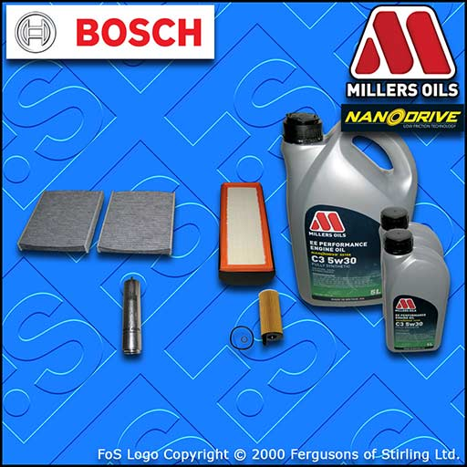 SERVICE KIT BMW 7 SERIES F01 F02 730D 730LD OIL AIR FUEL CABIN FILTER +OIL 12-15