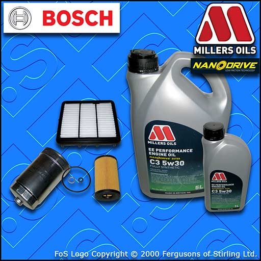 SERVICE KIT for KIA CEE'D (ED) 1.6 CRDI BOSCH OIL AIR FUEL FILTER +OIL 2011-2012