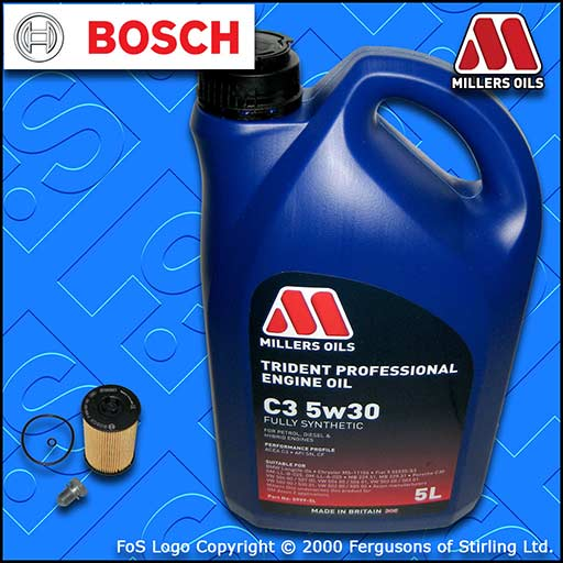 SERVICE KIT for AUDI Q3 (8U) 2.0 TDI CU* CY* D* OIL FILTER +OIL (2014-2018)