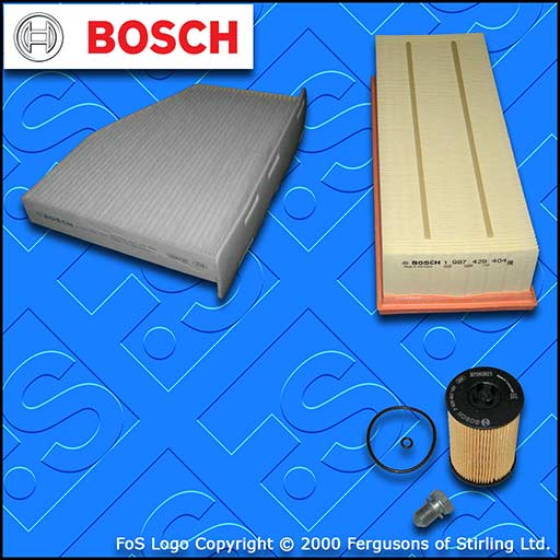 SERVICE KIT for AUDI Q3 (8U) 2.0 TDI CU* CY* D* OIL AIR CABIN FILTER (2014-2018)