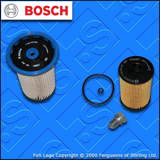 SERVICE KIT for AUDI Q3 (8U) 2.0 TDI CU* CY* D* OIL FUEL FILTERS (2014-2018)