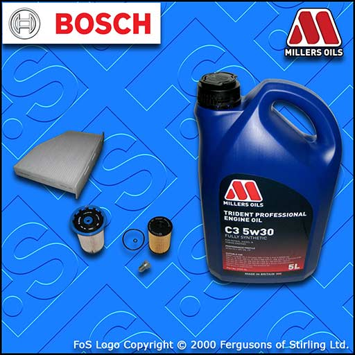 SERVICE KIT AUDI Q3 (8U) 2.0 TDI CU* CY* D* OIL FUEL CABIN FILTER +OIL 2014-2018