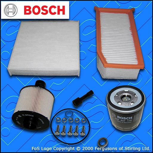 SERVICE KIT for RENAULT CAPTUR 1.5 DCI BOSCH OIL AIR FUEL CABIN FILTER 2012-2020