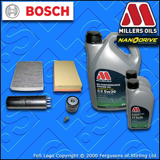 SERVICE KIT VW TRANSPORTER T5 2.0 BiTDi OIL AIR FUEL CABIN FILTER +OIL 2009-2015