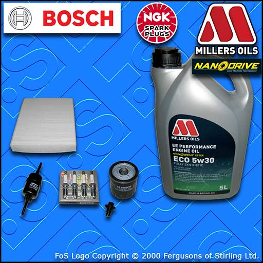 SERVICE KIT for FORD FIESTA MK6 ST150 OIL FUEL CABIN FILTER PLUGS +OIL 2004-2008