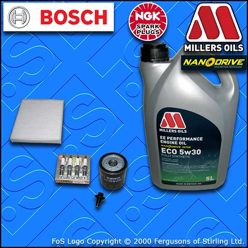 SERVICE KIT for FORD S-MAX 2.0 OIL CABIN FILTER PLUGS SUMP PLUG +OIL (2006-2014)