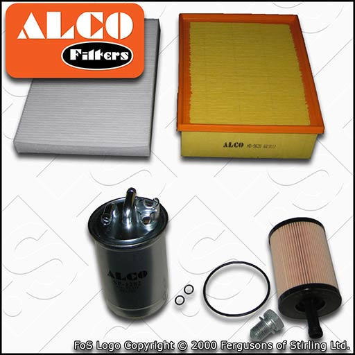 SERVICE KIT AUDI A4 (B7) 2.0 TDI 16V ALCO OIL AIR FUEL CABIN FILTERS (2004-2008)
