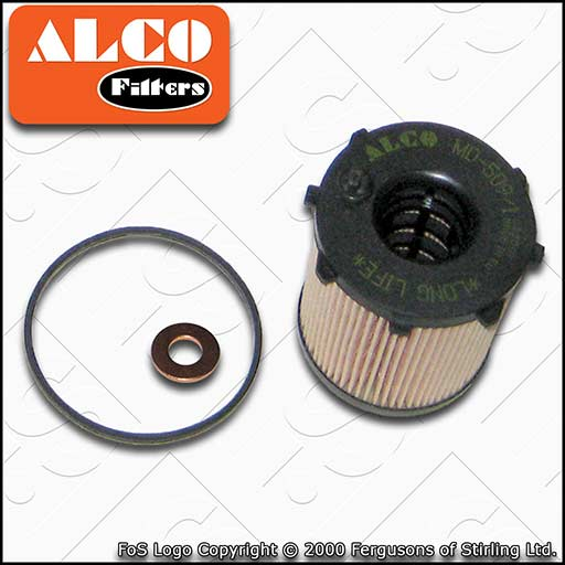 SERVICE KIT for PEUGEOT PARTNER 1.6 HDI OIL FILTER SUMP PLUG SEAL (2005-2015)