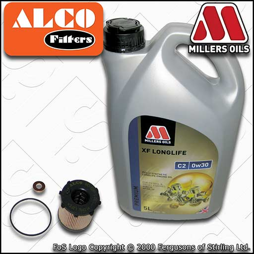 SERVICE KIT for MITSUBISHI ASX 1.6 DI-D OIL FILTER +0w30 C2 OIL (2015-2020)
