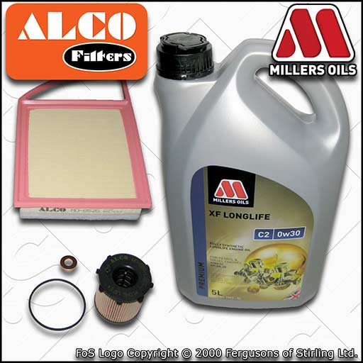 SERVICE KIT for MITSUBISHI ASX 1.6 DI-D OIL AIR FILTERS +0w30 C2 OIL (2015-2020)