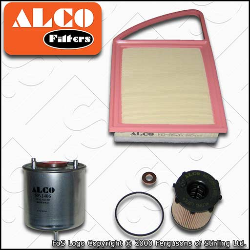SERVICE KIT for MITSUBISHI ASX 1.6 DI-D ALCO OIL AIR FUEL FILTERS (2015-2020)