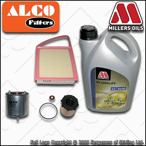SERVICE KIT for MITSUBISHI ASX 1.6 DI-D OIL AIR FUEL FILTERS +C2 OIL (2015-2020)