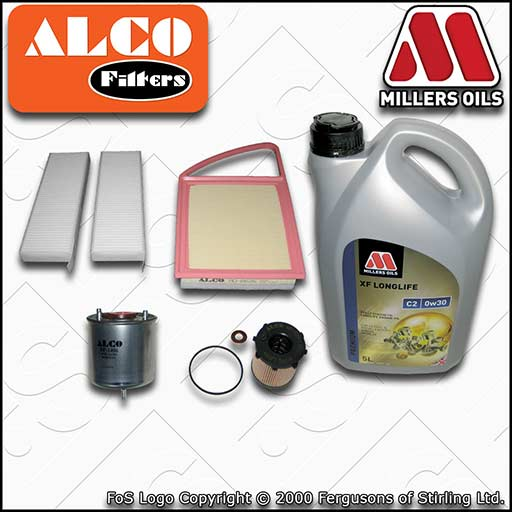 SERVICE KIT for CITROEN DS5 1.6 HDI OIL AIR FUEL CABIN FILTERS +OIL (2011-2015)