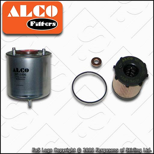 SERVICE KIT for MITSUBISHI ASX 1.6 DI-D ALCO OIL FUEL FILTERS (2015-2020)