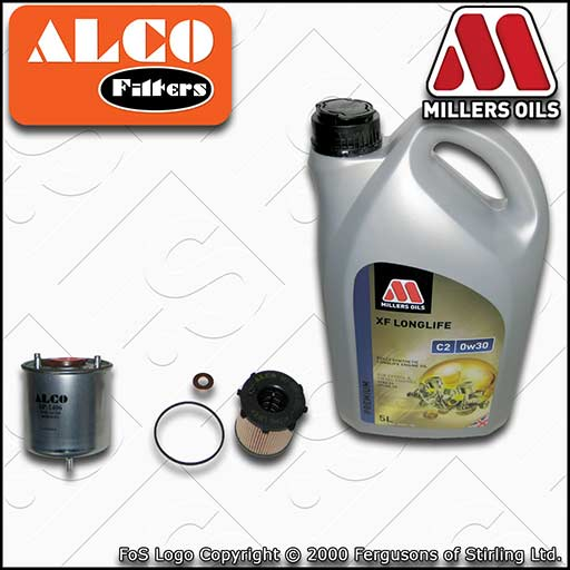 SERVICE KIT for MITSUBISHI ASX 1.6 DI-D OIL FUEL FILTERS +0w30 OIL (2015-2020)