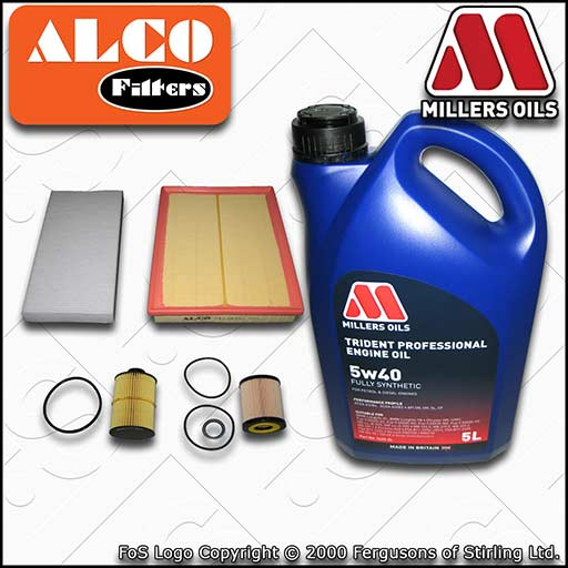 VAUXHALL/OPEL VECTRA C MK2 1.9 CDTI OIL AIR FUEL CABIN FILTER SERVICE KIT +OIL