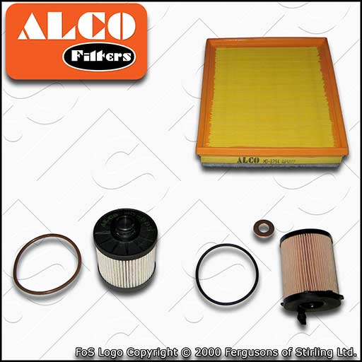 SERVICE KIT for PEUGEOT 508 1.6 BLUEHDI ALCO OIL AIR FUEL FILTERS (2014-2018)