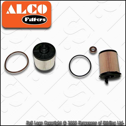 SERVICE KIT for PEUGEOT 508 1.6 BLUEHDI ALCO OIL FUEL FILTERS (2014-2018)